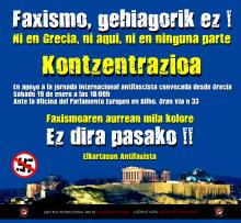 Ni en Grecia, ni aquí, ni en ninguna parte! Faxismo, gehiagorik ez !